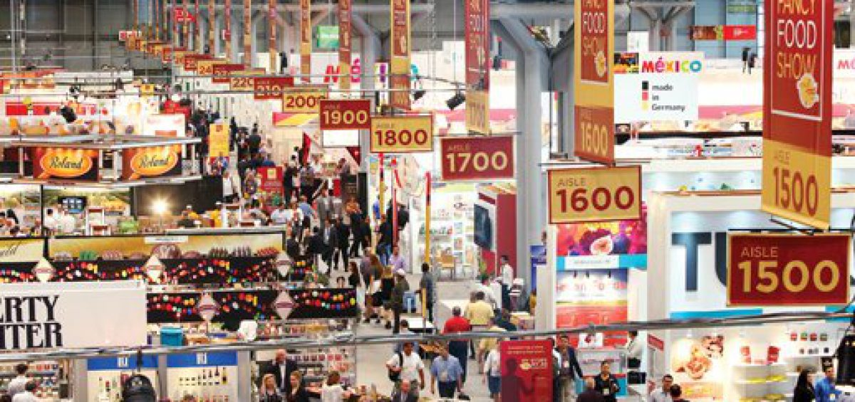 View of floor at Fancy Foods Show, New York City, NY
