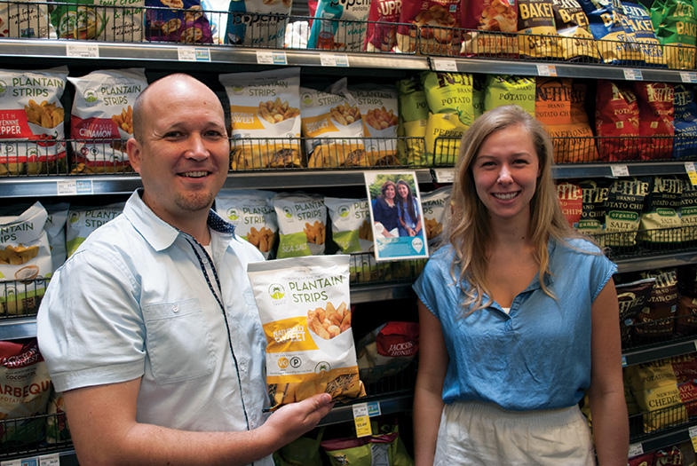 Madeline Stefan, intern, with Mathis Martines at Whole Foods
